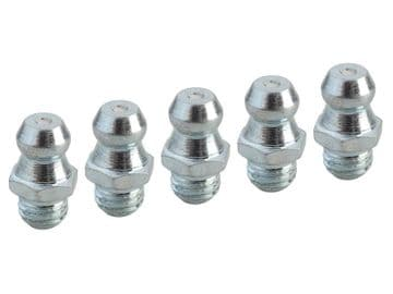 Grease Nipple Straight 1/4in UNF (Pack 5)